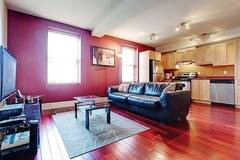 Apartment completely furnished for rent in the heart of downtown Montreal, corner unit and very bright