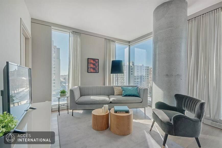 condo neuf meubl louer au centre ville de montr al. Black Bedroom Furniture Sets. Home Design Ideas