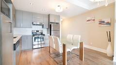 Beautiful furnished and equipped urban style condominium for rent in Laval