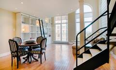 Beautiful furnished condo fully equipped, for rent in Nuns' Island, near downtown Montreal.