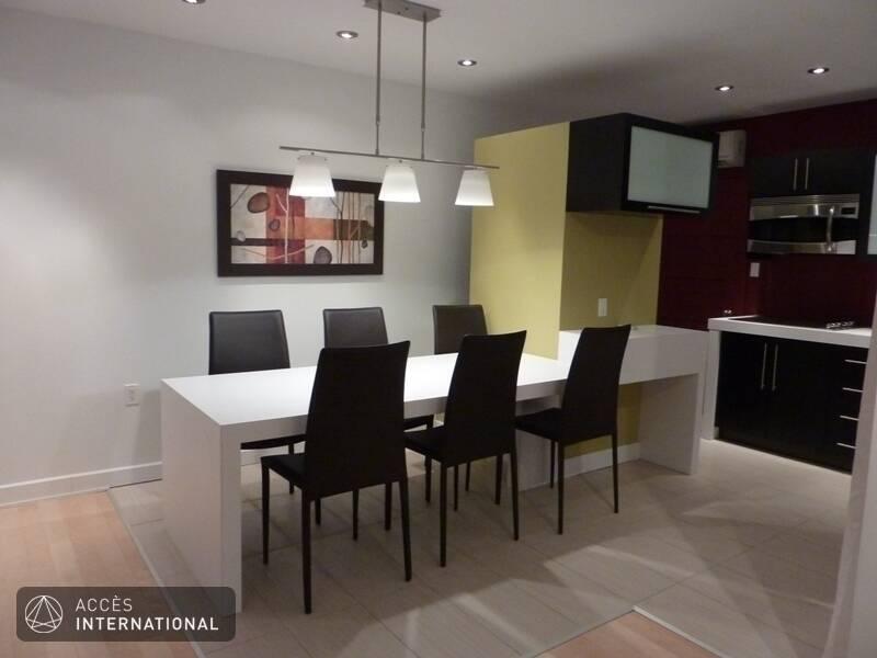 Location appartement meubl avec 2 chambres au coeur de for Logement meuble a montreal