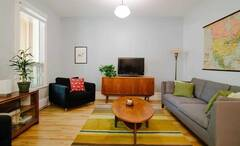 Fully furnished renovated apartment for rent in Villeray, two steps away from Jean-Talon Market