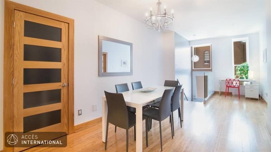 condo moderne meubl louer au plateau mont royal montr al. Black Bedroom Furniture Sets. Home Design Ideas