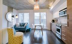 Adorable urban condo for rent downtown Montreal in the Entertainment district