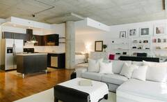 Spacious loft, fully furnished and equipped in the Villeray sector in Montreal