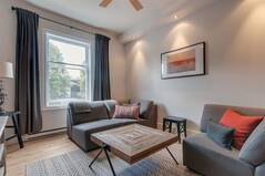 Furnished appartment for rent on the Plateau Mont-Royal in Montreal